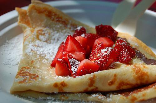 Vday, Strawberry, Crepe