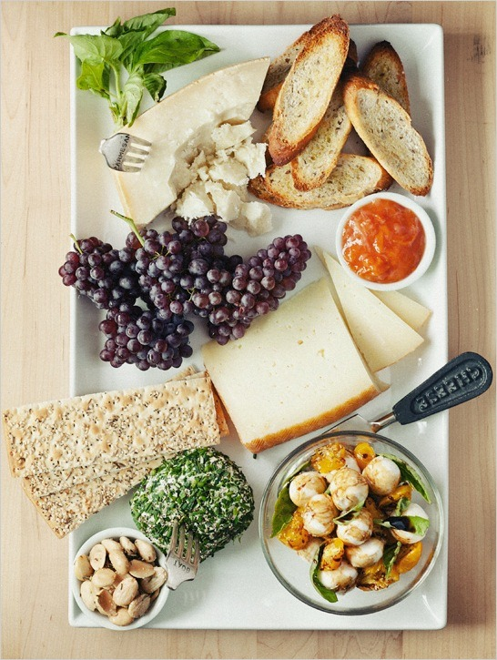 Cheese, Fruit, Bread, Grape