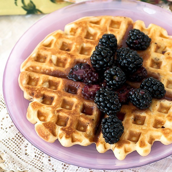 Blueberry Bacon Waffles