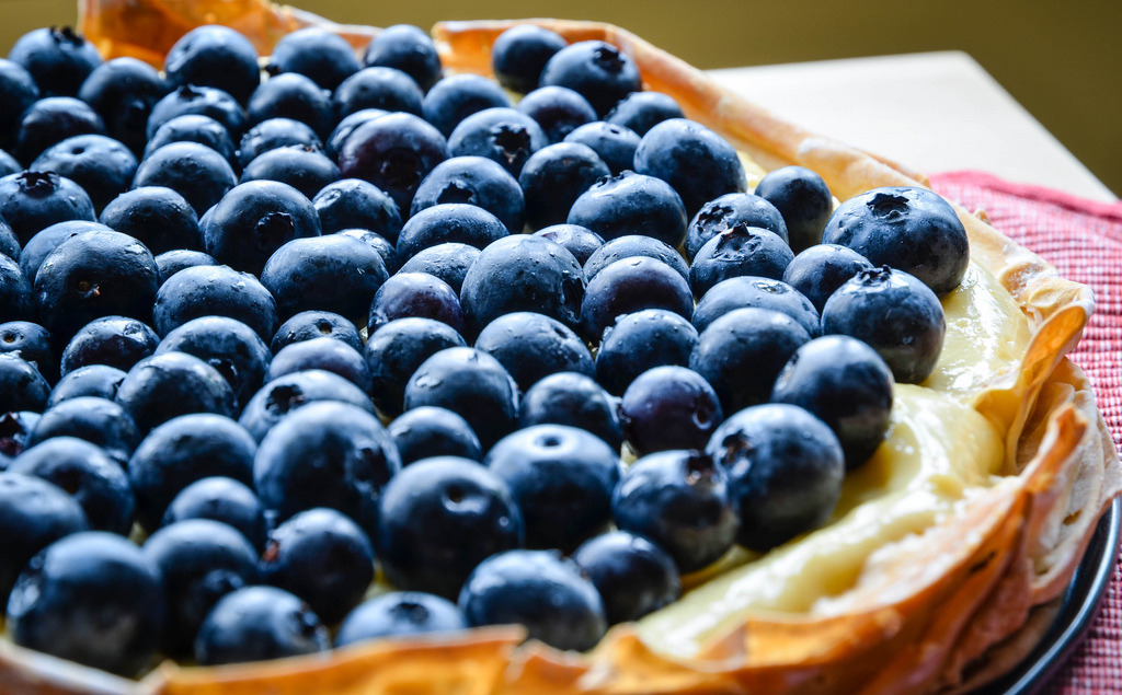 Blueberry Lemon Pudding Tart