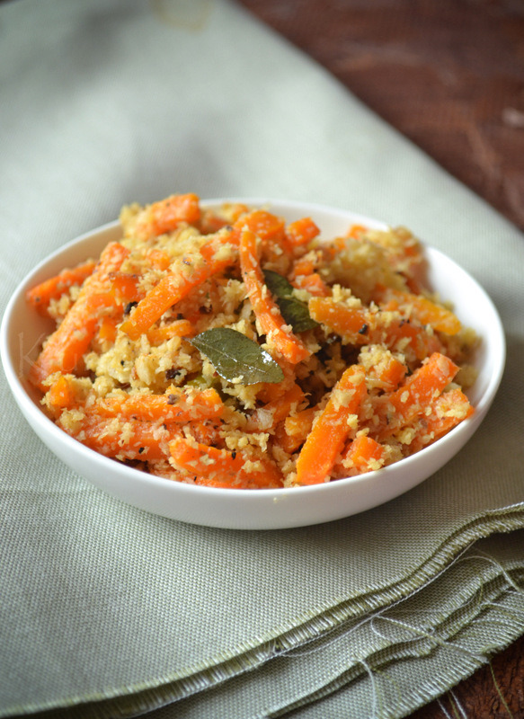 (via CARROT PEERA PATTICHATHU CARROT WITH COCONUT kurryleaves)