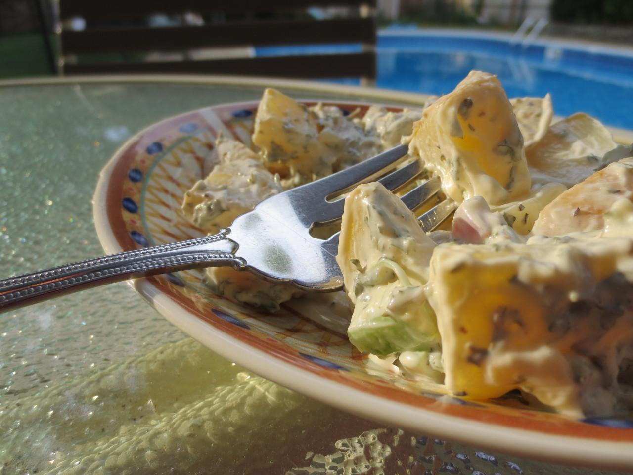 Homemade potato salad!More at keeplifesweetandsugary.tumblr.com
