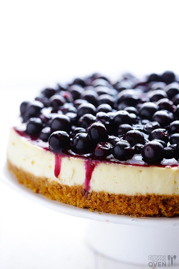 Lighter Blueberry Cheesecake