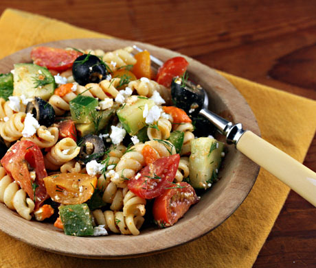 Greek Pasta Salad with Sun-dried Tomato Vinaigrette