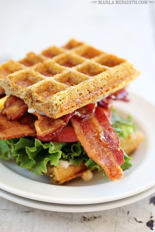 BLT Waffle Sandwich by Marla Meridith