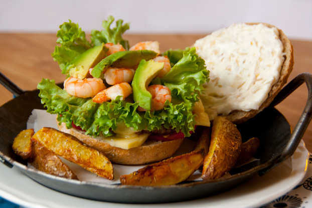 Prawn and Avocado Burger