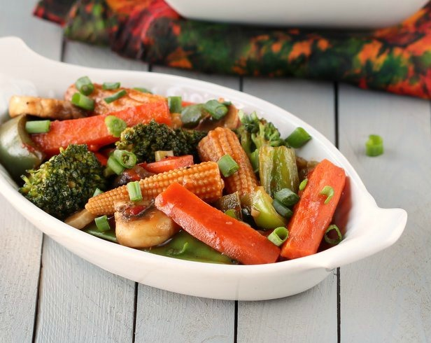 Vegetables In Hot Garlic Sauce