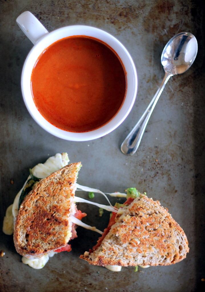 Turkey Bacon, Avocado and Mozzarella Grilled Cheese