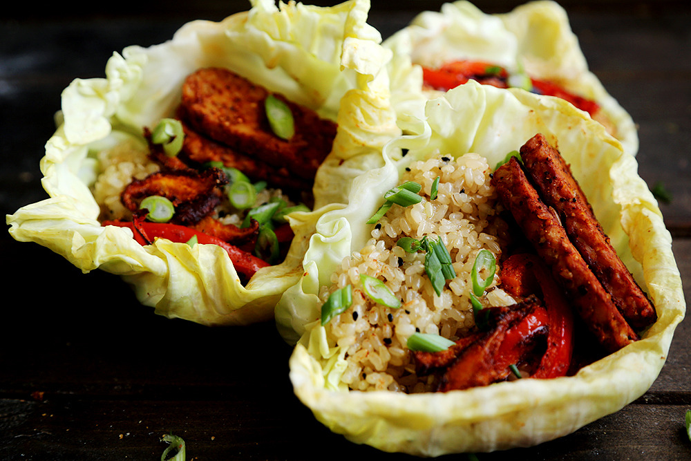 (via Cabbage Tacos with Sticky Rice, Tempeh and Roast Veggies Divine Healthy Food)