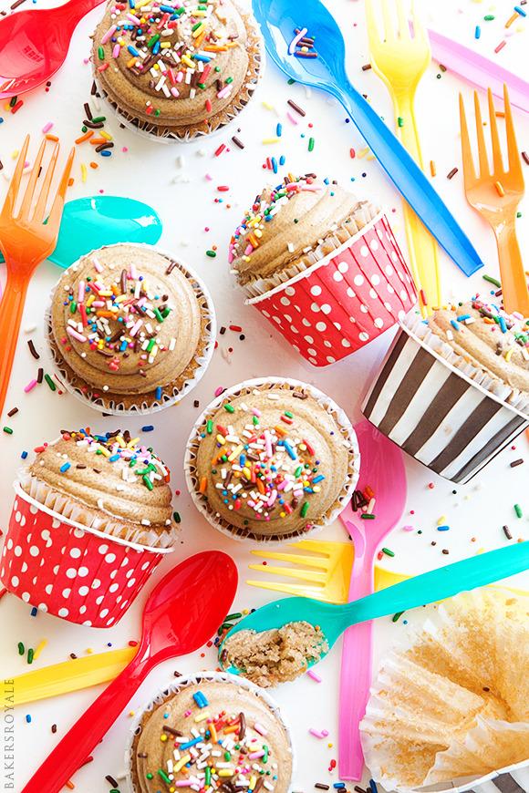 dulce de leche cupcake.