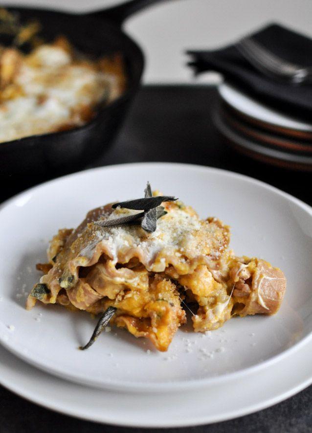 Butternut Squash Skillet Lasagna.