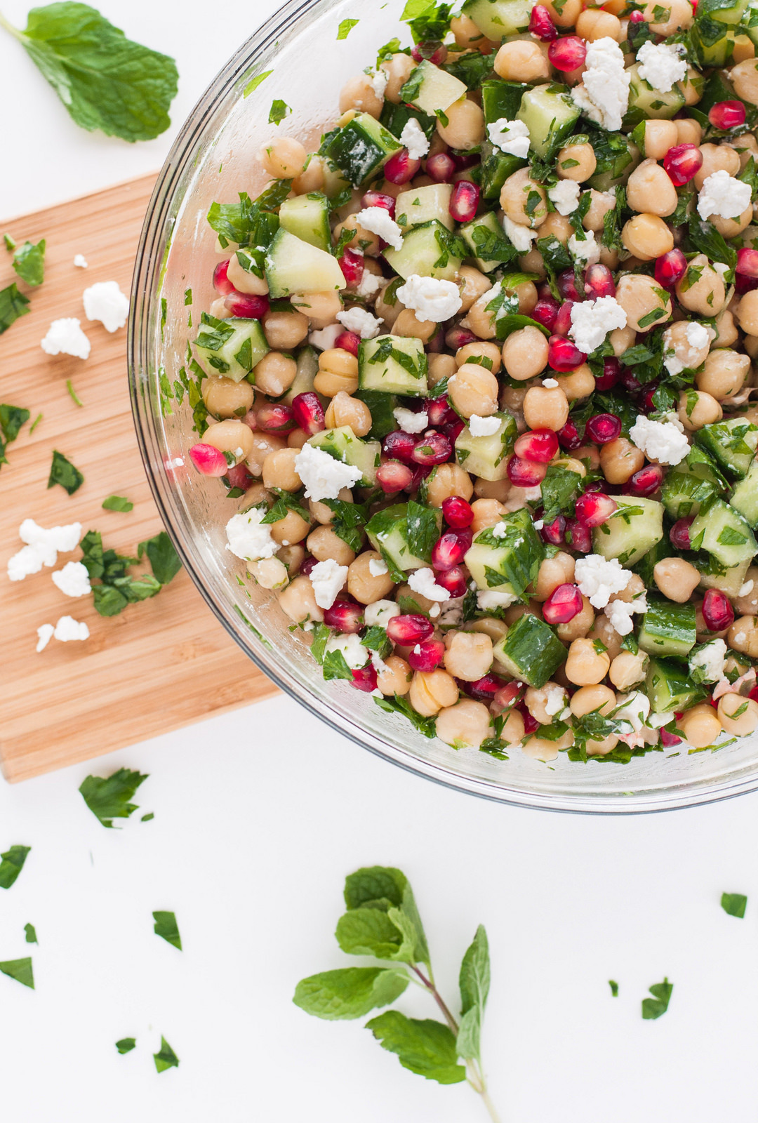 Chickpea Pomegranate Salad(by