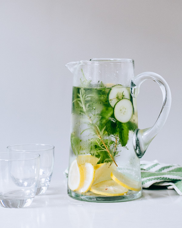 Lemon Herb Cucumber Water