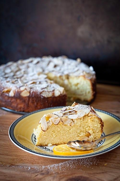 Meyer Lemon Ricotta Cake with Almonds (no flour)