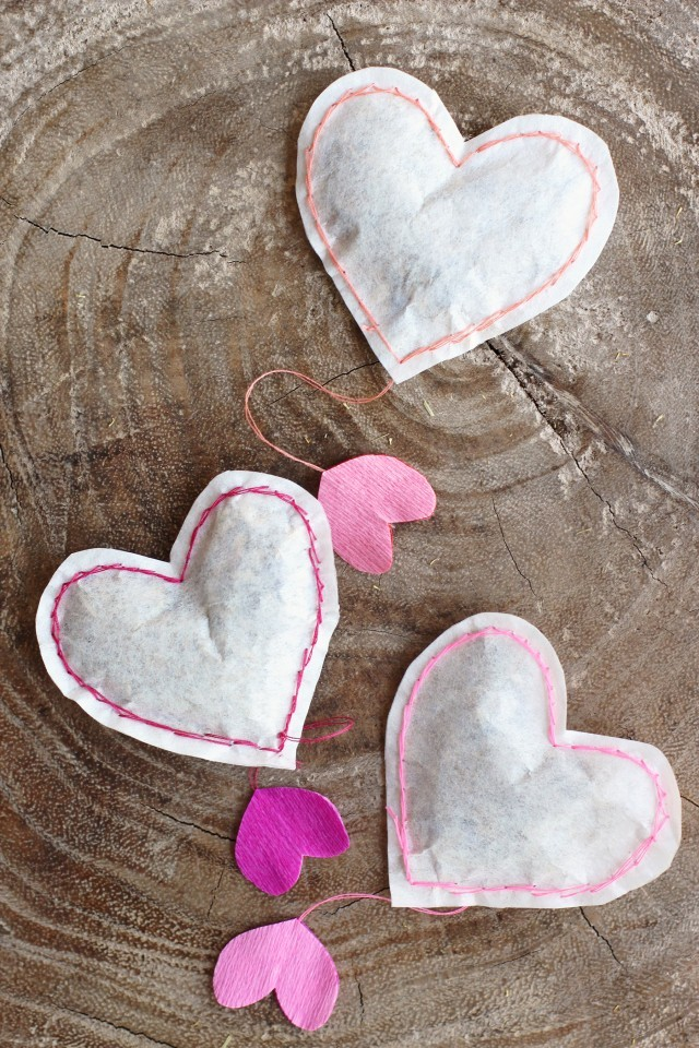 DIY Heart Shaped Tea Bags Honestly YUM