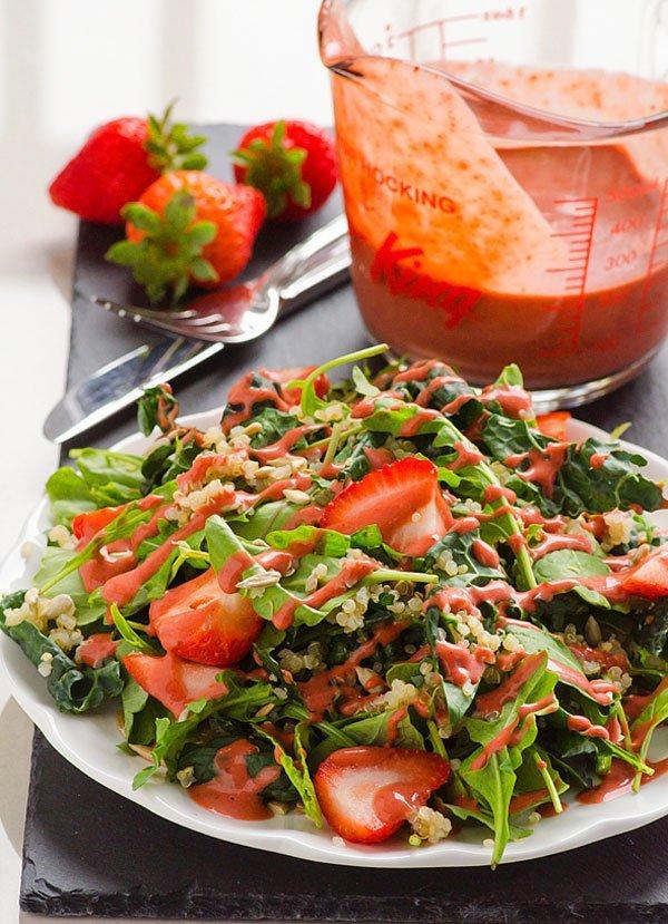 Strawberry Quinoa Kale Salad