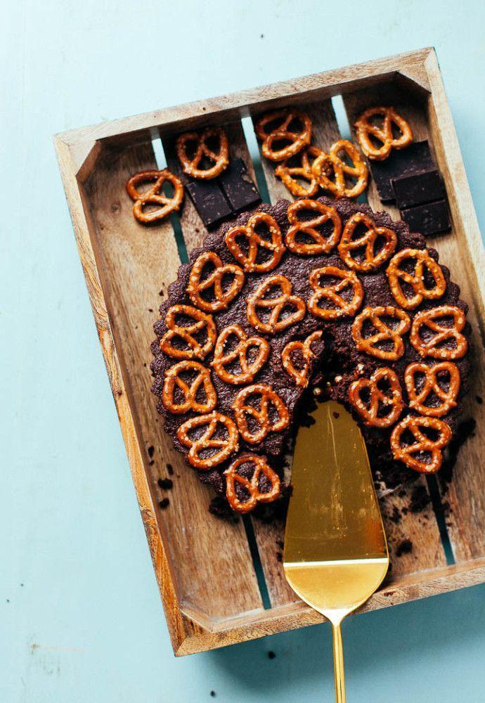 Dark Chocolate Peanut Butter Pretzel Tart The Baking Bird