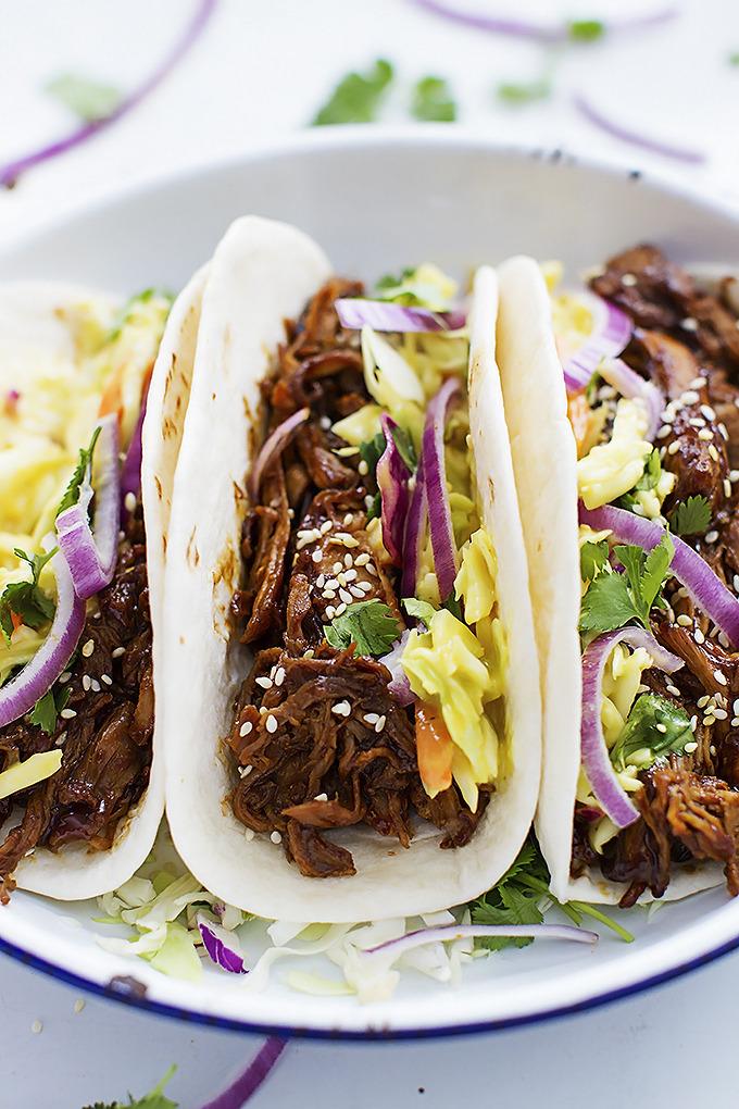 Korean BBQ Pork Tacos
