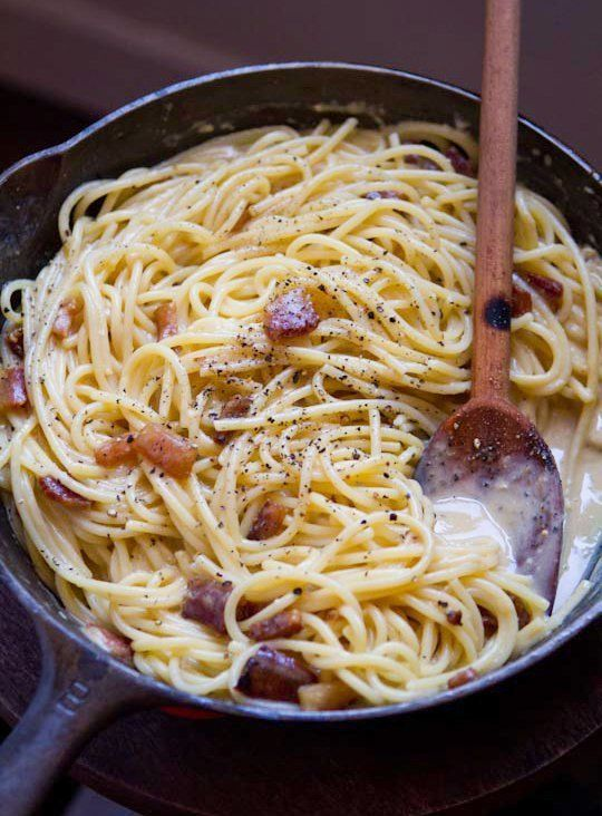 Spaghetti alla Carbonara The Kitchn