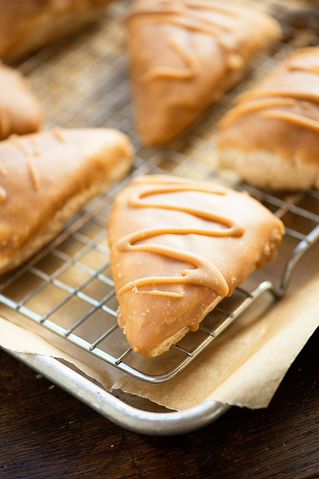 Maple Glazed Cinnamon Scones